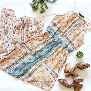 Zara Halterneck Floral Maxi Dress